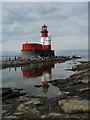 NU2438 : Lighthouse on the Farne Islands by Paul Sexton