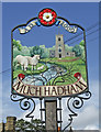TL4219 : Village Sign, Much Hadham, Hertfordshire by Christine Matthews