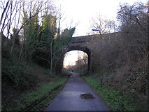 NT2273 : Walkway approaching bridge at Ravelston Dykes by Sandy Gemmill