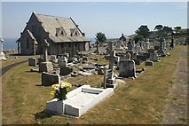 SH7683 : St Tudno's Church on the Great Orme by Mike Pennington