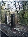 SH6340 : Gate at Ffestiniog Railway Crossing by Barry Hunter