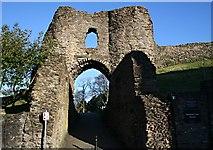 SX3384 : Launceston Castle Gate by Tony Atkin