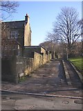 SE1421 : Foot of Bowling Alley, Rastrick by Humphrey Bolton