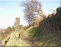 SE1421 : Footpath off Toothill Bank, Rastrick by Humphrey Bolton