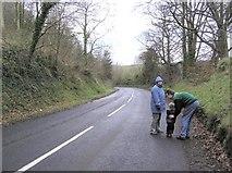 J3996 : Road at Gleno by Kenneth  Allen