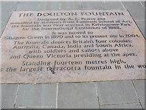 NS6064 : Doulton Fountain, Glasgow Green by wfmillar