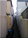 TQ2804 : Victoria Cottages Back Alley by Simon Carey