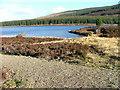 NN7754 : Fishing Hut on Loch Kinardochy by Dave Fergusson