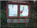 SU0229 : Compton Chamberlayne Village Noticeboard by Maigheach-gheal