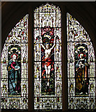 TL1344 : St Leonard, Old Warden, Beds - Window by John Salmon