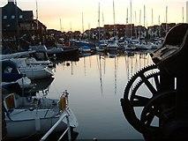 SU4208 : Sunset Hythe Marina Village by Gillian Thomas