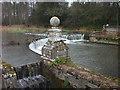 SY8888 : River Piddle near Trigon Farm by ANDY FISH