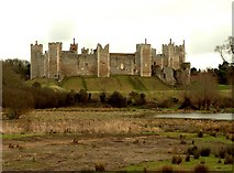 TM2863 : Framlingham Castle, looking southeast by Robert Edwards