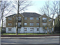TQ2995 : Apartment Block on corner of Harper Close and Chase Road, N14 by Christine Matthews