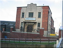 TQ3783 : A 1930's office building by Bow Back River, Marshgate by Rachel Bowles
