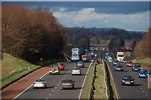 J2965 : The M1 near Lisburn (2) by Albert Bridge