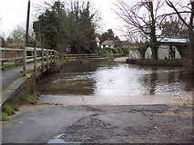 SU1734 : Ford through the River Bourne at Winterbourne Dauntsey by Maigheach-gheal