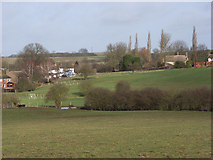 SP7433 : Fields on the edge of Thornborough by Andrew Smith