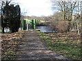 NS6860 : Clyde Walkway crosses the Clyde at Green Bridge by Chris Wimbush