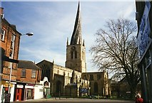 SK3871 : Crooked spire of Chesterfield Parish Church by Tom Pennington