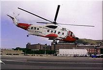 SY6874 : Coastguard helicopter base, Osprey Quay, Portland by Stephen Williams