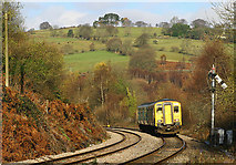 ST1599 : Railway near Bargoed by Martin Loader