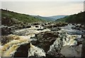 NY8728 : Rapids on the Tees above High Force by Tom Pennington