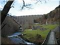SN9186 : Llyn Clywedog Dam and Lead Mine by steve bailey