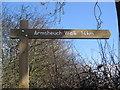 NS4738 : Armsheuch Walk Sign Post by wfmillar
