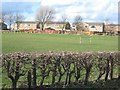 NZ2948 : Cambridge Drive and football pitch, Great Lumley by Oliver Dixon