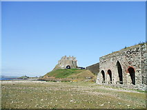 NU1341 : Lime Kilns below Lindisfarne Castle on Holy Island by Julie Jackson