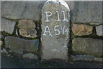 SH2332 : Carreg filltir - Milestone Sarn by Alan Fryer