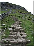SD8372 : The Pennine Way. The ascent up the southern face of Pen-y-ghent. by Frank Glover