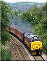 ST1686 : Railway near Caerphilly by Martin Loader