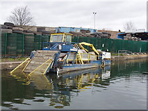 TQ2282 : Canal litter collector boat by David Hawgood