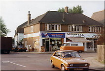 TQ1572 : Shops in Strawberry Hill, 1984 by Stephen Williams