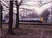 TQ1572 : Train near Fulwell Depot, 1986 by Stephen Williams