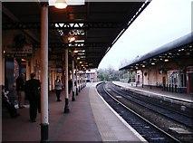 SO9322 : Cheltenham Spa Railway Station Platform by Tom Jolliffe
