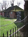 SX9392 : Cricket pavilion and scoreboard, Exeter School by Derek Harper