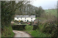 SS8028 : Molland: cottages near Great Champson by Martin Bodman