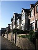 SX9193 : Houses on St David's Hill, Exeter by Derek Harper