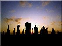 NB2133 : Callanish Standing Stones - Midsummer Sunset by Alan McKenzie