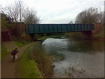 TL3706 : Nazeing New Road crossing the River Lea by Vaughan Callaghan