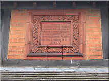 ST8558 : Plaque on the Almshouses by Phil Williams