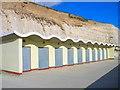 TQ3602 : Beach Huts, Ovingdean Beach by Simon Carey
