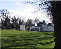 TQ1572 : Cricket pavilion on Twickenham Green by Stephen Williams