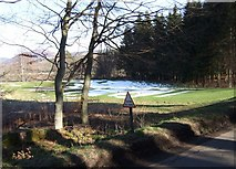 NO2694 : Balmoral golf course in March by Stanley Howe
