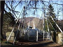 NO2694 : Easter Balmoral footbridge by Stanley Howe