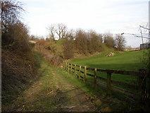 SE2745 : Railway maintenance track, Castley by Humphrey Bolton