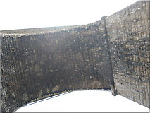 SH5571 : Beneath the road arch of Pont y Borth/ Menai Bridge by Eric Jones